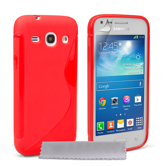 Caseflex Samsung Galaxy Core Plus Silicone Gel S-Line Case - Red