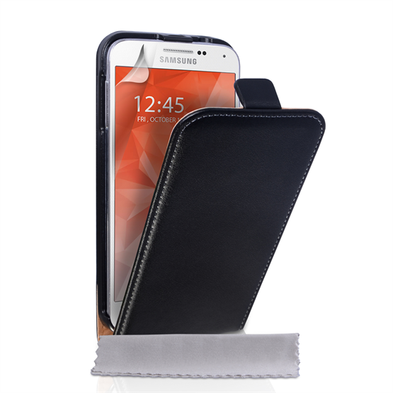 Caseflex Samsung Galaxy S6 Real Leather Flip Case - Black