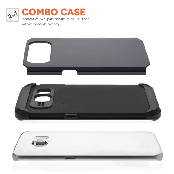 Caseflex Samsung Galaxy S6 Edge Tough Armor - Gun Metal Case