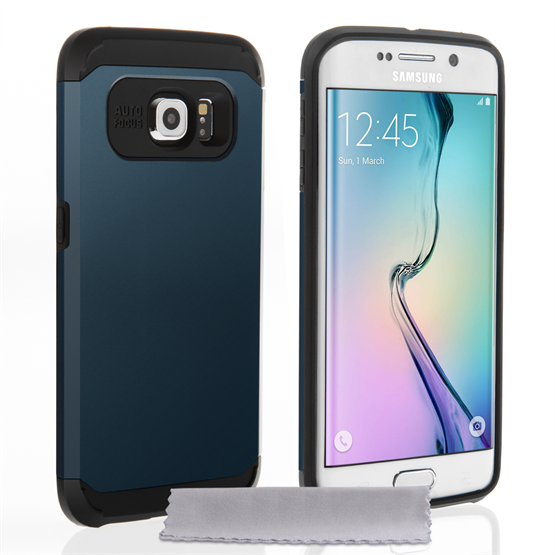 Caseflex Samsung Galaxy S6 Edge Tough Armor - Metal Slate Case