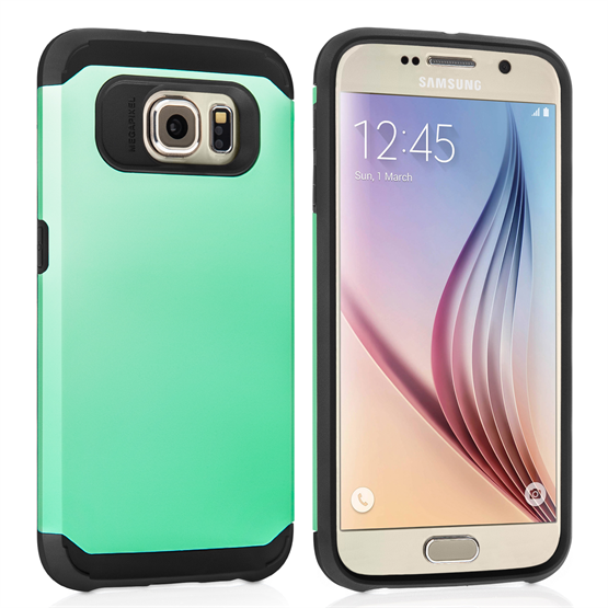 Caseflex Samsung Galaxy S6 Tough Armor Case - Mint Green