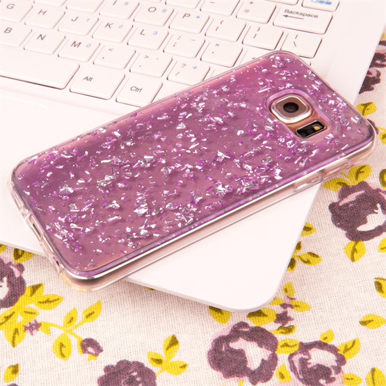 Caseflex Samsung Galaxy S6 Tinfoil Soft Case - Purple