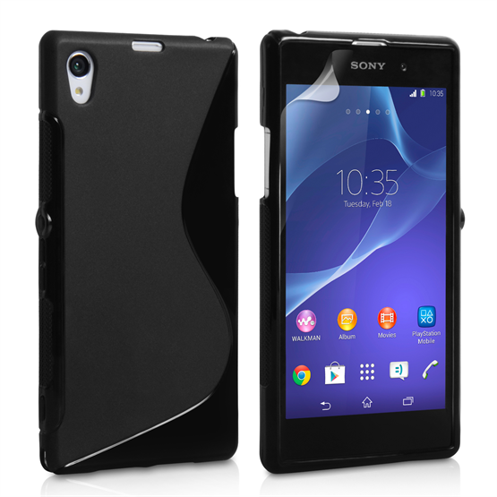 outlet store 8144d d8068 Caseflex Sony Xperia Z2 Silicone Gel S-Line Case - Black